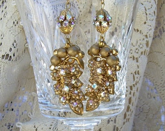 Gorgeous Long Dangle Vintage Earrings