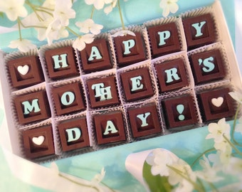 Happy Mother's Day - Gift for Mom - Handcrafted Chocolate Gift - Happy Mom's Day