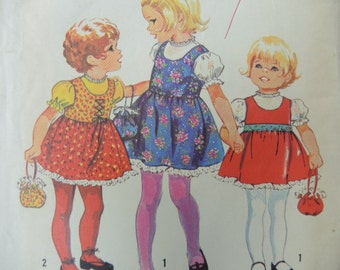 vintage 1970s simplicity sewing pattern 9684 girls jumper blouse and bag