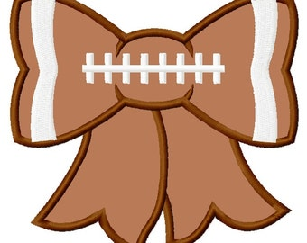 Football Bow Applique Embroidery Design 4 sizes included INSTANT DOWNLOAD