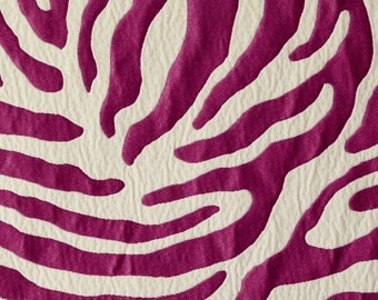 Fuchsia Animal Upholstery Fabric - Dark Pink Fabric for Furniture - Metallic Fabric - Quilted Pillow Covers - Custom Fuchsia Pink Pillows