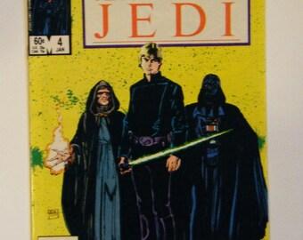 1984 Star Wars Return Of The Jedi Marvel Comics Volume #1 Number #4 Comic Book