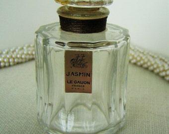 LE GALION JASMIN Vintage Perfume Bottle Collectible Perfume Flacon