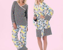 UNCUT Misses' Pajamas Pattern McCall's 7297 Size 8-10-12-14-16 Nightgown, Pajama Pants, Nursing Top, Robe, Pajama Shorts, Elastic Waist