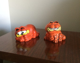 Vintage Garfield Plaster Figurines (80s)