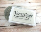 White VersaCraft Stamp Pad for Paper, Wood, Fabric, Etc. - White Ink Pad, White Stamp, White Stamp Pad