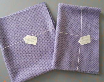 WOOL - 'Purple Hexie' - in two sizes
