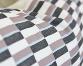 Zak and Fox Obi Go Pillow Cover - Blue, Purple & Black Geometric Throw Pillow - Bohemian Pillow - Mid Century Home Decor - Stripped Pillow