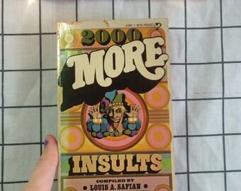 1967 '2000 More Insults' Joke/Humor Book