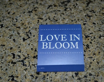 100 Seed Matchbooks - Love in Bloom Wedding Favors of Forget Me Not Seeds--Business Marketing