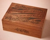 I Carry Your Heart Wooden Keepsake Box - Memory Box for Mother's Day, Wood Box Wedding Gift, Anniversary Gift
