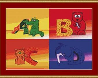 Letters Cross Stitch Pattern
