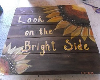 Rustic Wooden Sunflower Sign