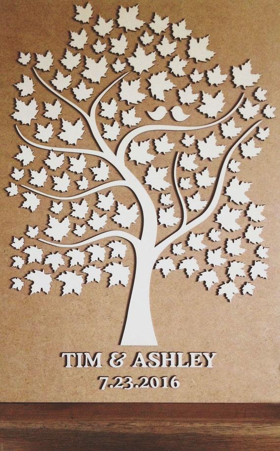 3D Wedding Guest Book Alternative Wedding Tree by ...