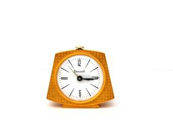 Russian Alarm Clock Soviet Vintage USSR Vitjaz Table Clock Retro Desk Clock