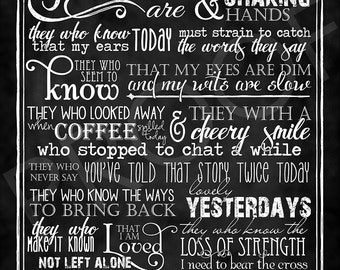 Chalkboard Art: Beautitudes for Friends of the Aged ~ typography