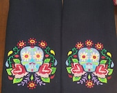 Sugar Skull Cup Towel Set