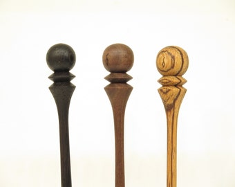 Wood Hair Stick: Hand Turned Wooden Hair Stick