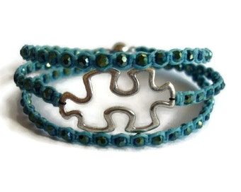 Puzzle Bracelet Autism Awareness Jewelry