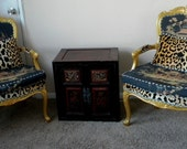 2 Vintage Rococo Chairs Chair Asian Chinese Japanese Animal Print Upholstery