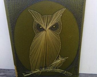 Mid Century String Art Owls