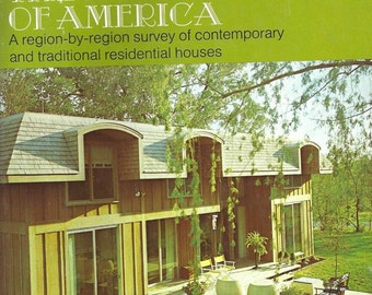 1971 Illustrated Guide To The Houses Of America Ballinger Mid Century Modern Design