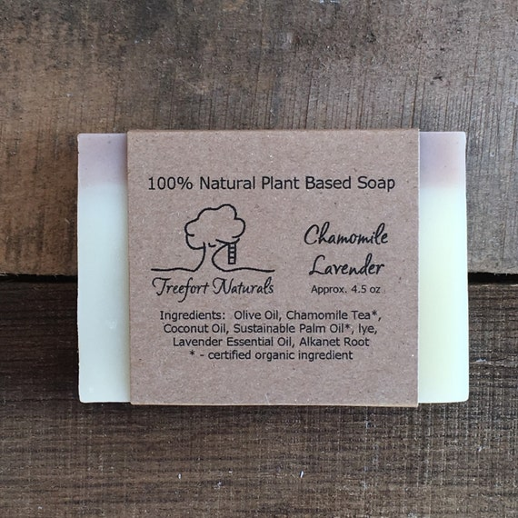 Chamomile Lavender soap - Handmade Cold Process, All Natural, vegan, essential oils, baby bar