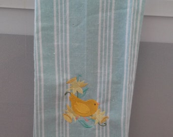 Kitchen towel/ chicks/ Easter decor/