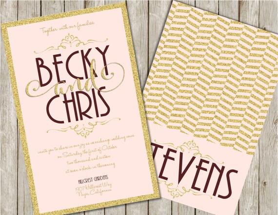 Burgundy And Gold Wedding Invitations: Blush And Gold Wedding Invitations Gold And Burgundy Wedding