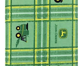 John Deere Rug john deere plaid fabricthe yard - john deere tractor fabric