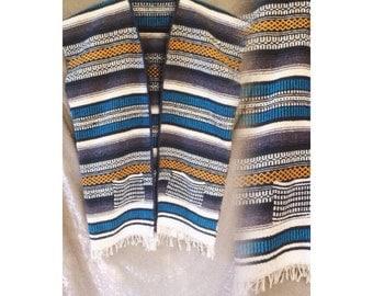Vintage long ethnic wool jacket vest