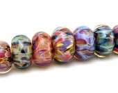 SRA Handcrafted Artisan Lampwork Beads - Borosilicate Orphans/Singles - Set 10