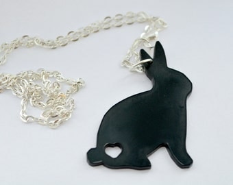 Acrylic Rabbit Necklace