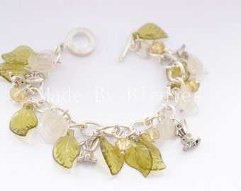 Spring Bunnies Charm Bracelet (Silver Plated)