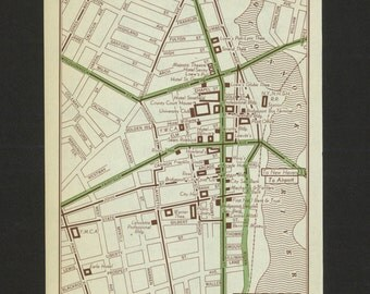 Vintage Map Bridgeport Connecticut Original 1951