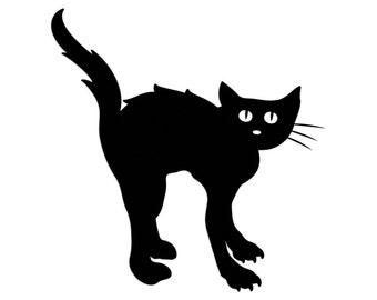 Black Cat Die Cut, Halloween Die Cut, Cats, Scary Halloween, Halloween, Die Cuts, Cut Outs, Craft Projects, Scrapbook, Gift Tags, Toppers