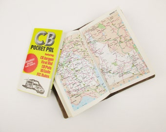 A Vintage 'Roadtrip' Must Have  - Pocket Pack 1978 Rand McNally Road Atlas - CB Pocket Pal - Travel Time Guide and Gas Saving Tips - USA