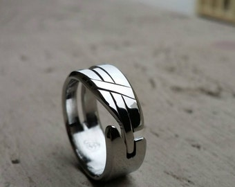 """27 """"LOAM"""" handmade stainless steel ring (not casted)"""