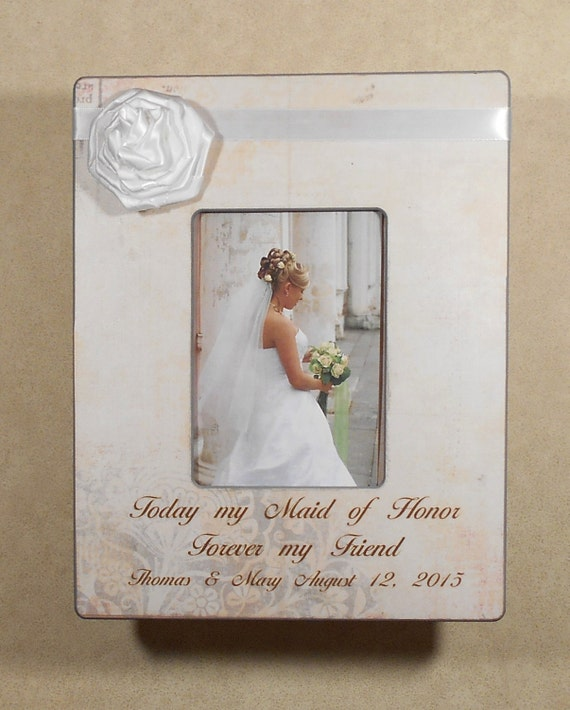 Wedding Gift For Friend Sister : WEDDING GIFT SISTER Today My Maid of Honor by CanyonMeadows