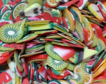 Mixed Fruit Nail Fimo