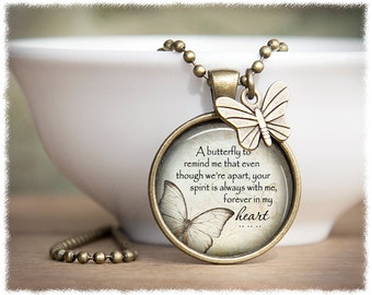 Remembrance Jewelry • Miscarriage Jewelry • Memorial Necklace • Loss of Loved One • Memorial Butterfly Pendant