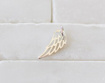 Angel Wing Charm - Sterling Silver Angel Wing - Wing Charm- Silver Wing - Angel Charm - Silver Wing Charm - Angel Wing - Charm Necklace