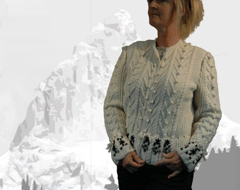 "Ladies cardigan with Austrian Inspiration ""Lake Louise"" cream - the perfect companion for denim"