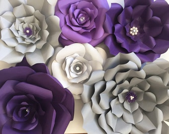 Set of 6 - Purple and Grey