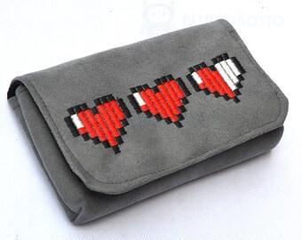 8 bit Zelda hearts 3DS case