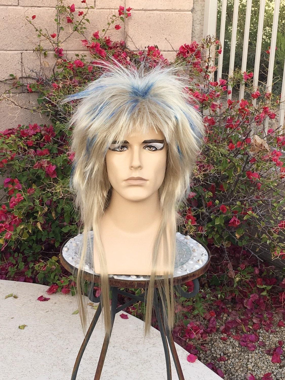 Jareth Labyrinth Blonde Ball Blue Custom Wig