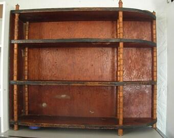 Primitive Farmhouse Wooden Spool Shelf