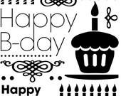 HAPPY BIRTHDAY -  EMBOSSING FoLDER by CGull 5x7  - Brand New in Pkg- Cuttlebug, Sizzix, XCut, Vagabond, BigShot etc...