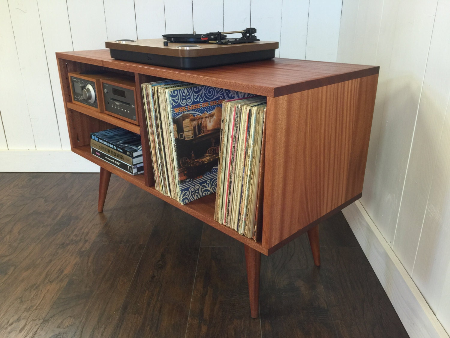 Design Record Player Cabinet new mid century modern record player console turntable