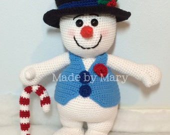 PDF Pattern: Frosty the Snowman *Crochet Pattern Only, Not Actual Doll**
